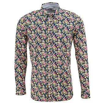 Maddox Street Rose Print Mens Shirt