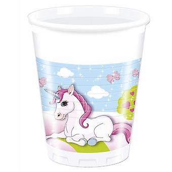 Unicorn Unicorn part Cup dricka koppar 200ml 8 bit barn födelsedagsfest tema