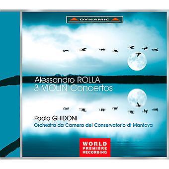 Alessandro Rolla - Alesandro Rolla: 3 Violin Concertos [CD] USA import