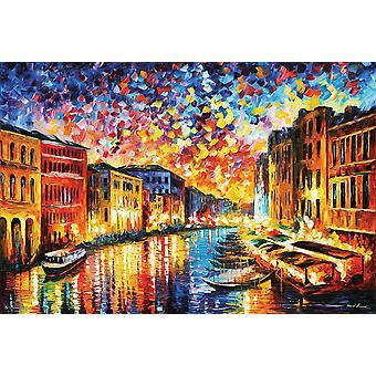 Venetsia Grand Canal juliste Leonid Afremov 61 x 91,5 cm