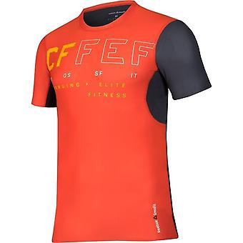リーボック Crossfit 短いスリーブ B45169 普遍的なすべての年の男性 t シャツ