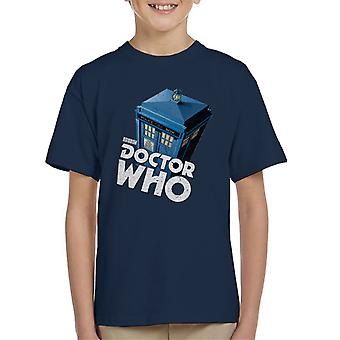 T-shirt do Doctor Who clássico Tardis miúdo