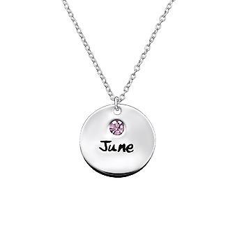 Juni Birthstone - 925 Sterling Zilver Jewelled kettingen - W30219x