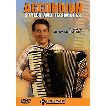 Accordion Styles & Techniques - Accordion Styles & Techniques [DVD] USA import