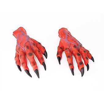 . ידיים של אימה אדום.