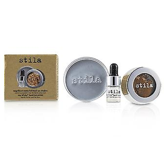 Stila Magnificent Metals Foil Finish Eye Shadow With Mini Stay All Day Liquid Eye Primer - Comex Copper - 2pcs