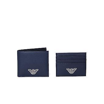 Emporio Armani Navy lompakko lahja setti
