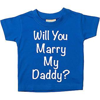 Kommer du gifta dig med min pappa? Blå Tshirt