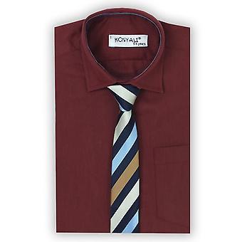 Pagina jongens Classic wijnrood Shirt met stropdas kraag