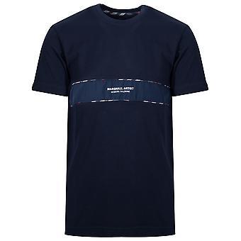 Marshall Artist Navy Short Sleeve Logo T-Shirt