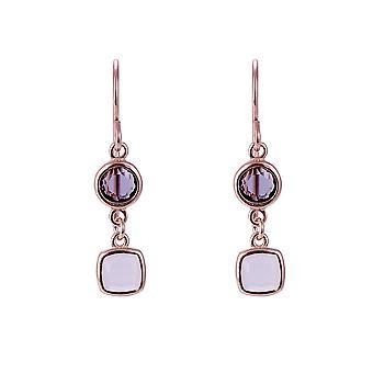 Orphelia Silver 925 Earring Rose met veelkleurige Stones - ZO-7410