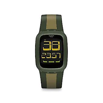 Swatch Quartz digitale horloge Unisex volwassen siliconen polshorloge SURG101D
