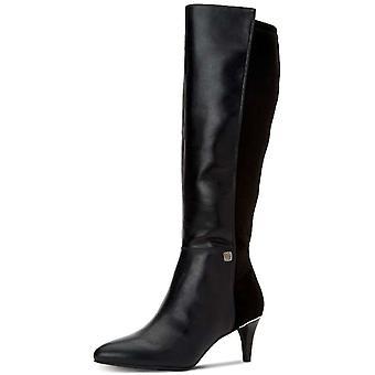 """المرأة الفاني هاكوو """"أشار إصبع القدم الركبة عالية أزياء أحذية جلدية"""""""