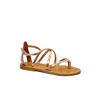 K.jacques Epicuremetilpeach Women's Orange Leather Sandals