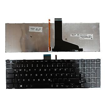 Toshiba Satellite S55DT-A5130 Glossy Black Frame Backlit Black Windows 8 German Layout Replacement Laptop Keyboard