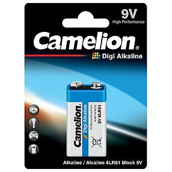 Batterij 9V Camelion Digi alkaline 6LR61, 9 volt