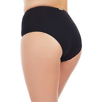 Marc and Andre L1713-ZP-HWB Women's Black Swimwear Bikini Bottom