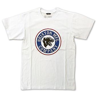 Brixton forte T-shirt branco azul