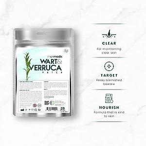 Wart and Verruca Patch - 28 Patches - Hygienic, Mess Free Wart and Verruca Aid - Natural Pain Free Removal - Quick & Easy to Apply - Home Remedy