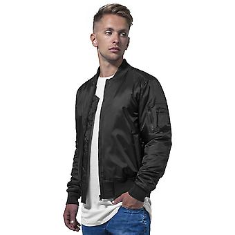 Cotton Addict Mens Contrast Zip Up Casual Bomber Jacket