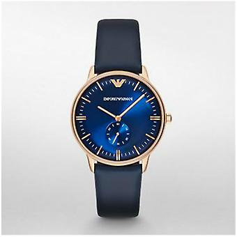 Emporio Armani Ar2071 Men's Classic Rose Gold Tone Leather Watch