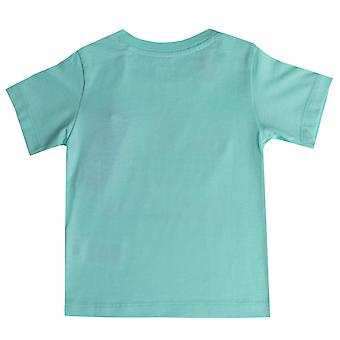 Baby Girls adidas Originals Trefoil T-Shirt In Mint- Short Sleeve- Ribbed