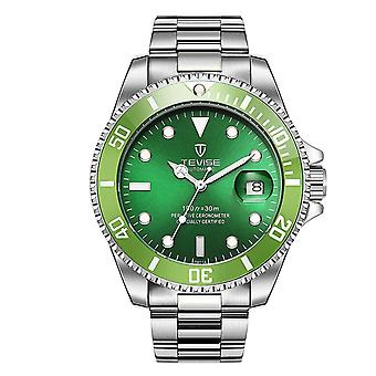 Mens Homage Automatic Watch Green Silver Smart Watches Date Designer Gift