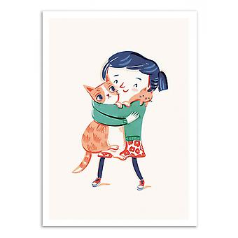 Art-Poster - Me and my cats - Anickanita 50 x 70 cm