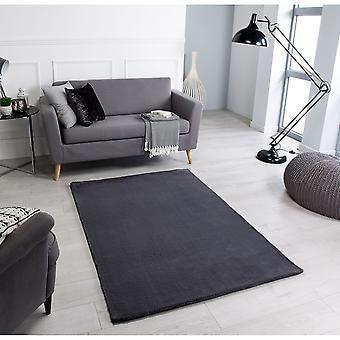 Alfombras rectangulares de carbón cómodo sin bosque/casi alfombras lisas