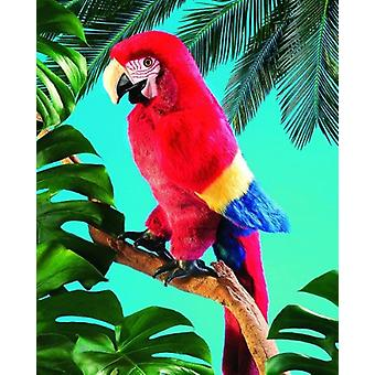 Hand Puppet - Folkmanis - Macaw Scarlet New Animals Soft Doll Peluche Toys 2362