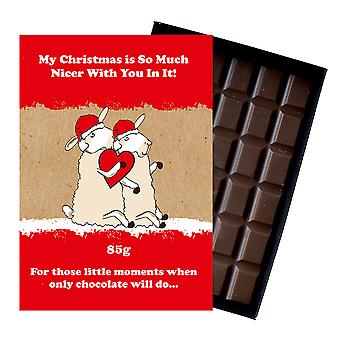 Funny Christmas Gift for Girlfriend Boyfriend Boxed Chocolate Xmas Present for Him or Her XMS123