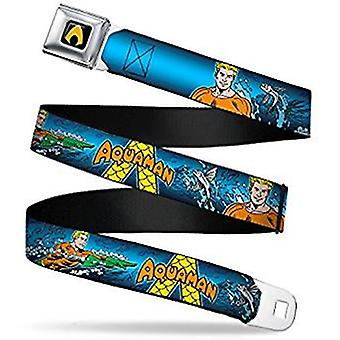 Seatbelt Belt -  DC Comics - Aquaman V.4 Adj 24-38' Mesh New aqb-waq006