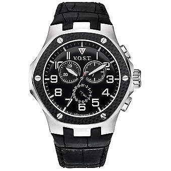 V.O.S.T. Germany V 100.008 Carbon Steel Chrono men's Watch 44mm