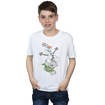 Disney Boys congelado OLAF e troll T-shirt