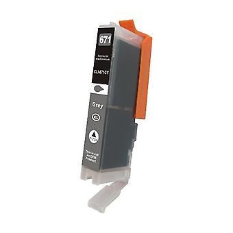 CLI-671XL Gray Premium Compatible Inkjet Cartridge