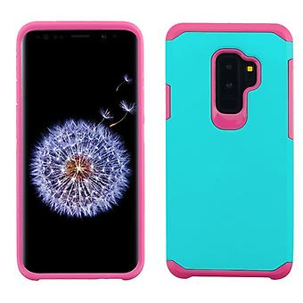 ASMYNA Teal Green/Hot Pink Astronoot telefon Protector Cover för Galaxy S9 plus