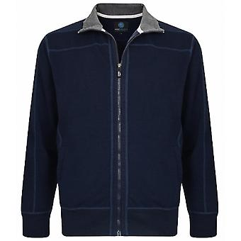 KAM Kam Fashion Full Zip Canvas Sweater