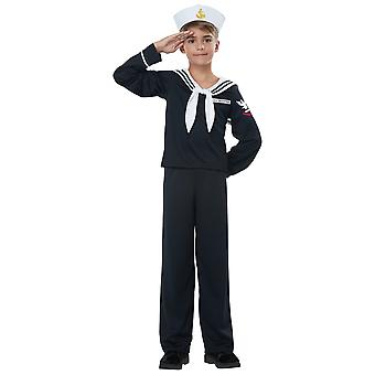 Navy Sailor Boy Marine Uniform Military Sea Force Book Week Child Boys Costume