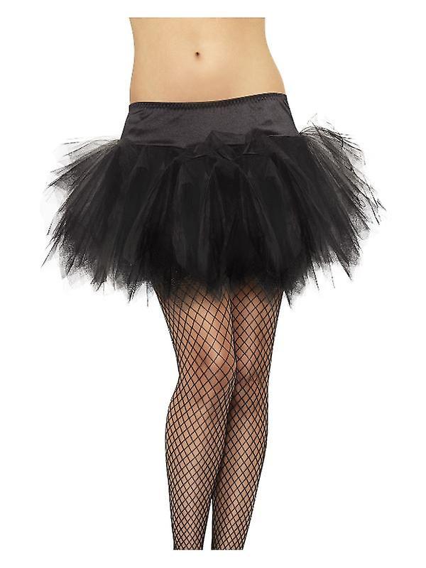 Womens Black Frilly Tutu gonna costume accessorio