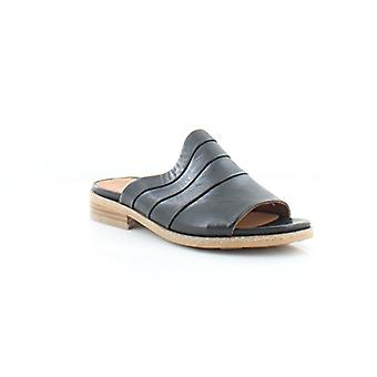 Gentle Souls Womens Gayle Leather Open Toe Casual Slide Sandals