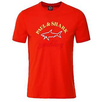 Paul and Shark Crew Neck Logo T-Shirt