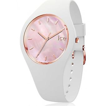 Ice Watch-armbandsur-Unisex-ICE Pearl-vit rosa-medium-3H-017126