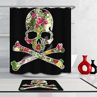Smokin' Skull And Bones Shower Curtain