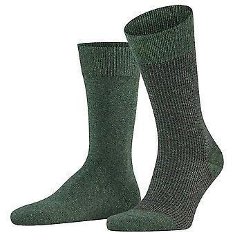 Esprit Kontrast Pique 2-Pack Socken - Wacholder Green
