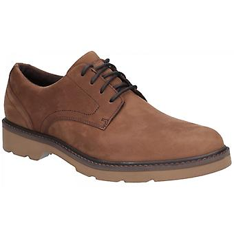 Rockport Charlee Mens Leather Derby Shoes Tawny