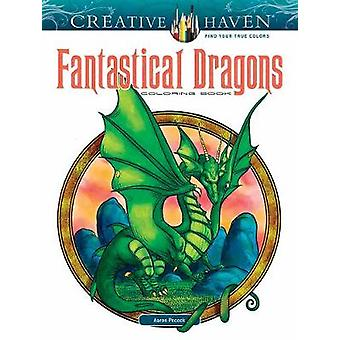 Creative Haven Fantastical Dragons libro da colorare di Aaron Pocock