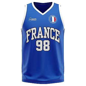 فرنسا الصفحة الرئيسية مفهوم قميص كرة السلة - أطفال