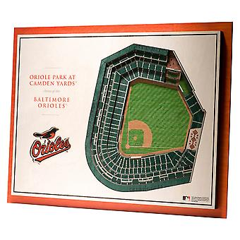 YouTheFan Wood Wall Decoration Stadium Baltimore Orioles 43x33cm