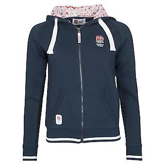 England RFU Rugby Ladies Full Zip Hoodie | Navy