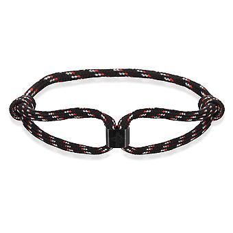 Skipper Bracelet Surfer Band Sail Knot Maritime Bracelet with Logo Black/Red 8474